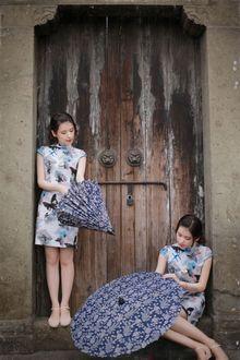 时光_古镇、旗袍、油纸伞;人像摄影作品《乌镇游之:年华似水》
